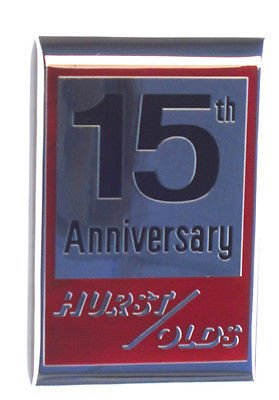 The Parts Place Oldsmobile Cutlass Hurst Olds 15th Anniversary Header Panel Emblem - GM # 22520894