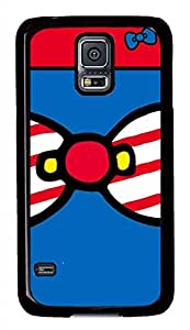 Blue Red Bow PC Black Hard Case Cover Skin For Samsung Galaxy S5 I9600 by ruishername
