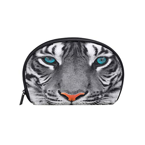 Makeup Bag Animal Tiger Blue Eyes Cosmetic Pouch Clutch -