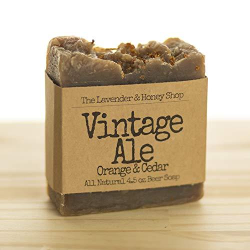 Vintage Ale Orange & Cedar Beer Soap Bar 4.5oz