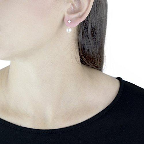 Carissima - Boucles d'oreilles en or jaune 9ct et perles