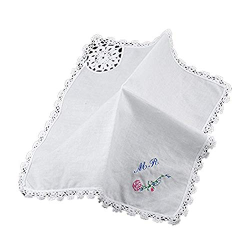 Personalized Handkerchief Custom Embroidered Pocket Square Cotton Handkerchief for Men Women Gift -