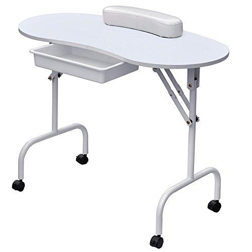 World pride portable manicure table nail technician desk for Mobile nail technician table