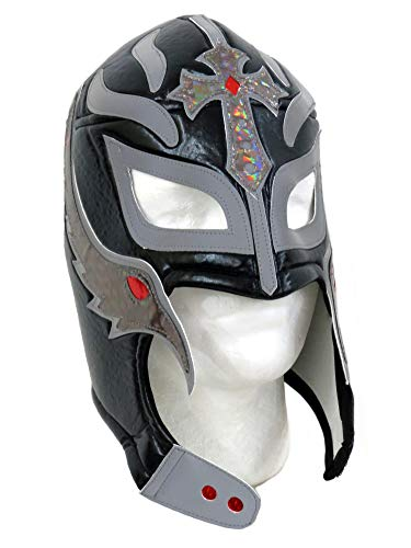 Leos Imports Rey Mysterio Adult Lucha Libre Wrestling Mask (Pro-Style) Black -