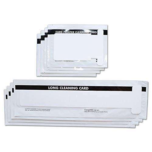 Price comparison product image Cleaning Kits for ZXP Series 1 and ZXP Series 3 ID Card Printer Repair, Pack of 4 Short T Cards and 4 Long T Cards CK-105999-301