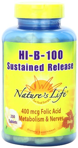 (NatureÂ's Life Hi-B-100 Complex, Sustained Release, 250)