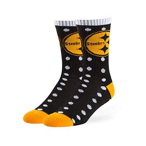 (OTS NFL Pittsburgh Steelers Lucelle Sport Socks, Black, Medium)