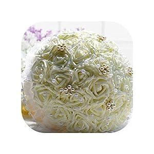 meiguiyuan Spend 30 Cream-Colored The Bride Bouquet Wedding Flowers Online 77