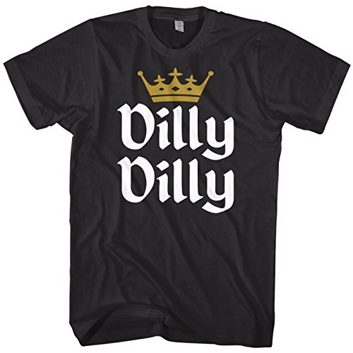 Irish Drunk T-shirt - Mixtbrand Men's Dilly Dilly Gold Crown T-Shirt 3XL Black