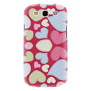 LZX Heart In Red Background Pattern Hard Case for Samsung Galaxy S3 I9300