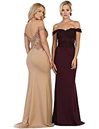 by Formal Dress Shops MQ1529 Off The Shoulder Prom Formal Gown