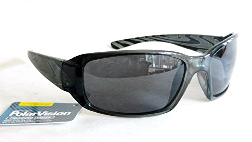 Polar Vision Mens Hi-Def POLARIZED Sport Sunglasses (1117) 100% UVA & UVB Protection-Shatter Resistant + FREE BONUS MICROSUEDE CLEANING - Science Polarized Sunglasses Style
