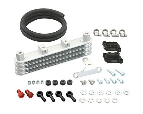 KITACO 3-ROW Super Oil COOLER (ONLY fits up to OEM/Stock Cylinder Head & ONLY works with Kitaco Clutch Cover), Fits: 2013-2018 Honda GROM / GROM SF, 360-1432820 -