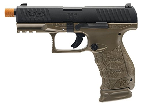 Walther PPQ Gas Blowback Airsoft (Dark Earth Black) by Elite Force
