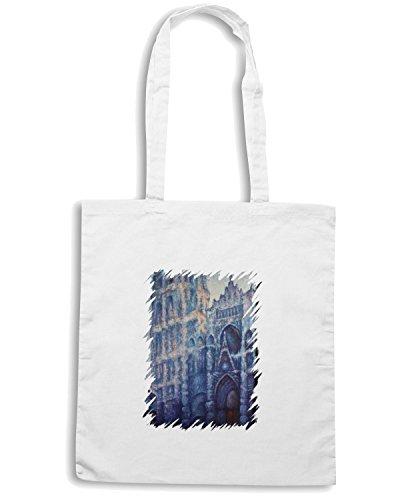 T-Shirtshock - Bolsa para la compra TDA0036 monet214 la cattedrale di rouen Blanco