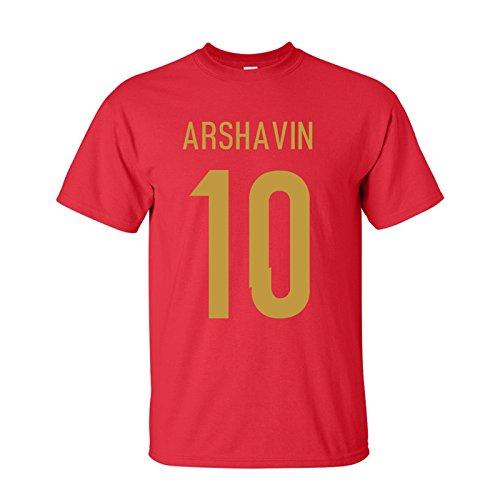 電子素晴らしさ一人でAndrei Arshavin Russia Hero T-shirt (red)
