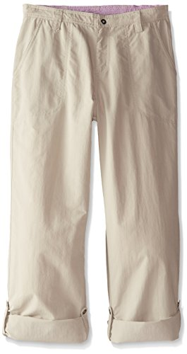 White Sierra Girls Trail Roll-Up Pant, Stone, Small by White Sierra