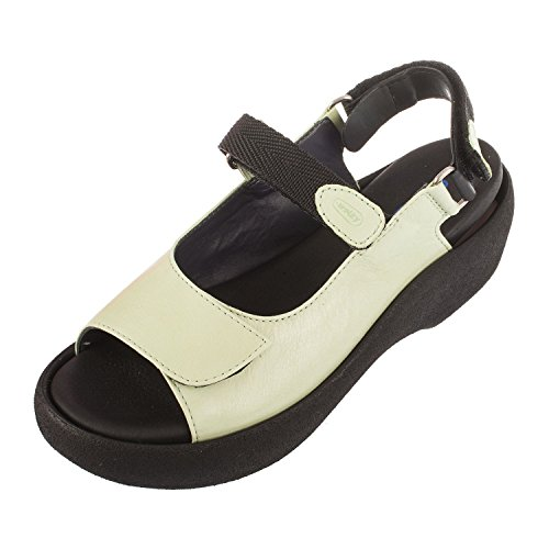 Leather Green Powder Jewel 3204 Wolky Womens Sandals tS0T0