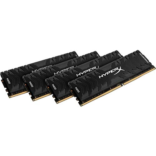Kingston Technology HyperX Predator Black 64GB Kit 3000MHz DDR4 CL15 DIMM XMP Desktop Memory HX430C15PB3K4/64