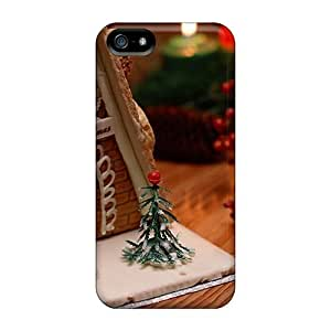 Fashion Case Awesome Gingerbread House And Candles Flip ACCJahRySQO case cover With Fashion Design For Iphone 5/5s