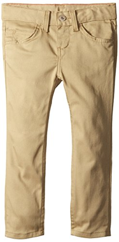 Dickies Little Girls' 5-Pocket Stretch Twill Pant, Desert Sand, 6X