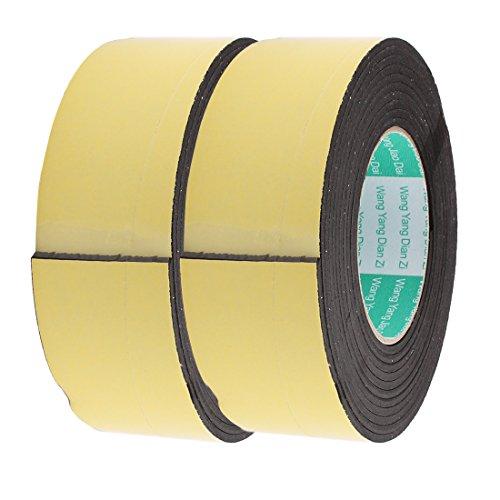 uxcell 2 Pcs 50mm Width 3mm Thickness EVA Single Side Sponge Foam Tape 4 Meters Length (Single Mm 50)