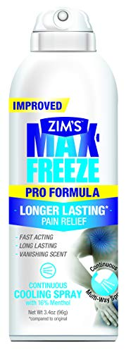 Zim's Max Freeze Pro Formula Spray,  3.4 Ounce