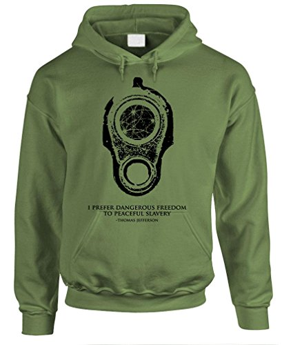 DANGEROUS FREEDOM - 2nd amendment rights Pullover Hoodie, M, Army