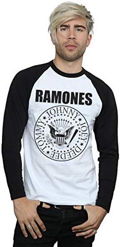 Ramones Hombre Presidential Seal Camisa De Manga Larga De Béisbol: Amazon.es: Ropa y accesorios