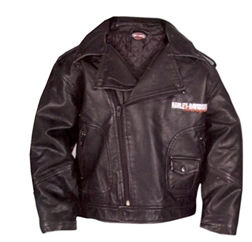 (Harley-Davidson Boys Youth Upwing Eagle H-DMC Biker Jacket Black (4T))