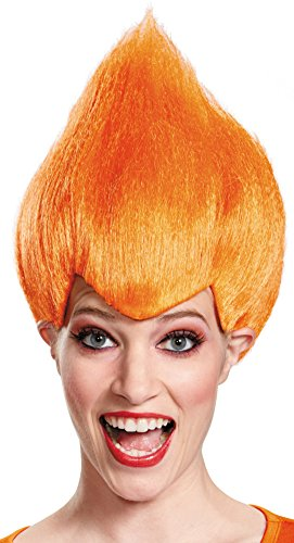 Disguise Wacky Adult Wig, Orange, One Size