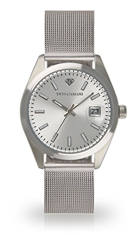 YVES CAMANI Sophie Women's Wrist Watch Quartz Analog Silver Stainless Steel Silver Dial YC1099-A-693