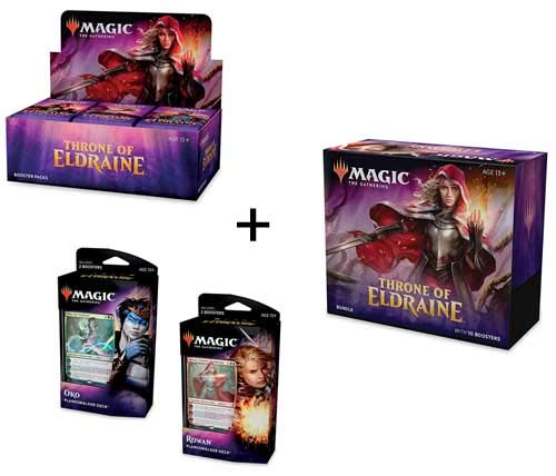 MTG Magic the Gathering Throne of Eldraine Booster Box + Bundle + Both Planeswalker Decks! by Magic: The Gathering