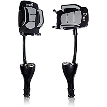 Gigue Cigarette Lighter Car Phone Mount, A Sturdy Stand with Snugly Holder and 2 USB Charging Ports, Best Car Accessories for Samsung Galaxy, Apple iPhone, LG, Nexus and GPS