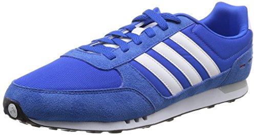 Adidas Coureur Ville Hommes Formateurs-marine / Gris Citron Vert Blanc, Taille 8 Multicolore (bleu 001)