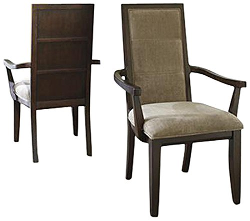 Ashley Furniture Signature Design Marxmir Dining UPH Arm Chair, Brown, Set of 2, Arm Chair