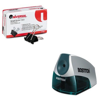 (KITBOSEPS4BLUEUNV10200 - Value Kit - Stanley Bostitch Compact Desktop Electric Pencil Sharpener (BOSEPS4BLUE) and Universal Small Binder Clips (UNV10200))