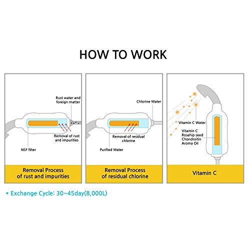 Sumi Eco Vitamin C Shower Water Filter - Remove Chlorine Hard Water Softener for Women Baby Children Pet - Reduces Dry Itchy Skin, Dandruff, Eczema, Moisturizing Skin, Hair and Nails, Lead Impurities