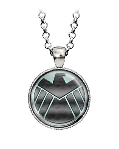 S.H.I.E.L.D. Agents of Shield Necklace, Hydra Pendant, The Avengers Captain America Necklace Jewelry, Superhero Earrings Gifts Gift, Geek Geeky Present Nerd Nerdy -