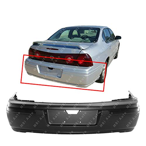 MBI AUTO - Primered, Rear Bumper Cover for 2000-2005 Chevy Impala Base & LS 00-05, GM1100622