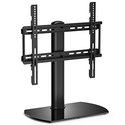 fitueyes universal tv stand base swivel tabletop tv stand with mount for 32 inch to 50 inch flat. Black Bedroom Furniture Sets. Home Design Ideas