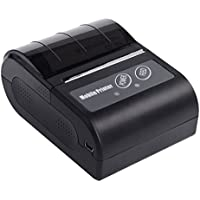 Rongta 72mm/s Print Speed Black Portable Mini Mobile Thermal Printer for Retail,supermarket,support Android,windows System,with Usb/Bluetooth Interface(Black)