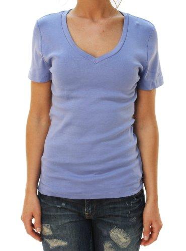 J. Crew Womens Short Sleeve V-Neck Basic T-Shirt Light Blue