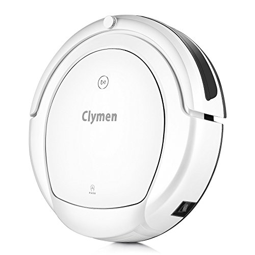 Clymen Q9 Robot Vacuum Cleaner with Wi-Fi Connectivity, Works with Alexa, Powerful Suction on Thin Carpet and Hard Floors, A Robotic Vacuum Cleaner for Pets, White