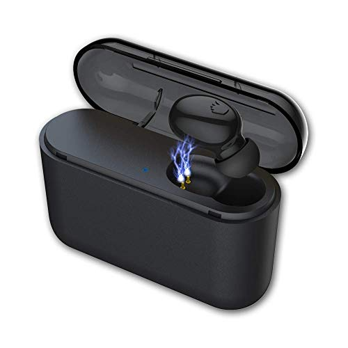 Bluetooth Earbud, Besinpo Smallest Bluetooth 5.0 Wireless Earbud Bluetooth Earpiece Invisible Earphone Car Headset 100 Hours Playing Time with 1450mAh Charging Box Enhanced Comfort - Single Earbud
