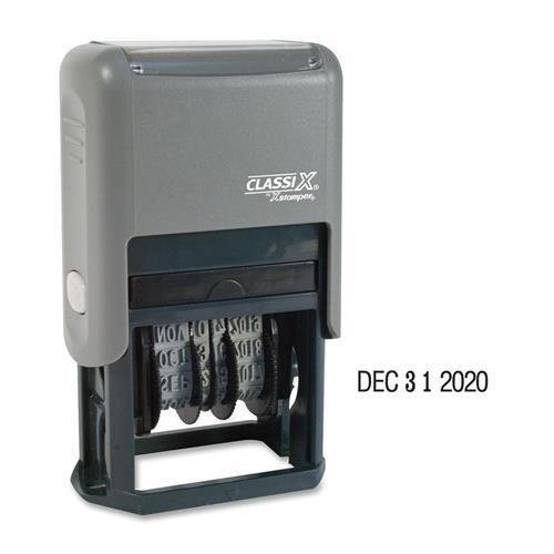 Xstamper Self-Inking Line Dater, 4 Years, Plastic, Economy, Black (40160)