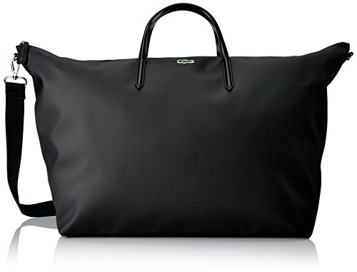 Lacoste Women's L.12.12 Concept Travel Shopping Bag, Black, One Size