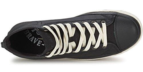 Diesel Exposure iv Negro Blanco Nuevo MujeresCuero Hi Sneakers Zapatos Botas