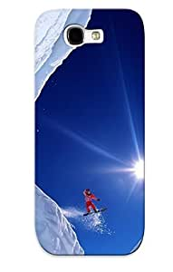 Defender Case With Nice Appearance (snowboard Jump) For Galaxy Note 2