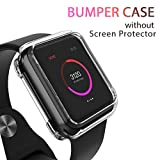 LELONG Compatible with Apple Watch Series 4 Case 40mm, Clear Soft Bumper Case Replacement for iWatch Cover